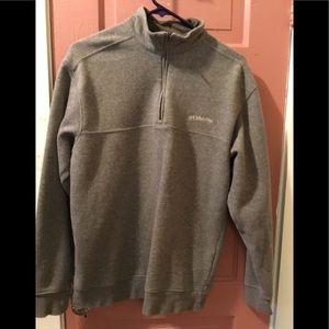 Columbia MENS Grey 1/4 Zipper Pullover